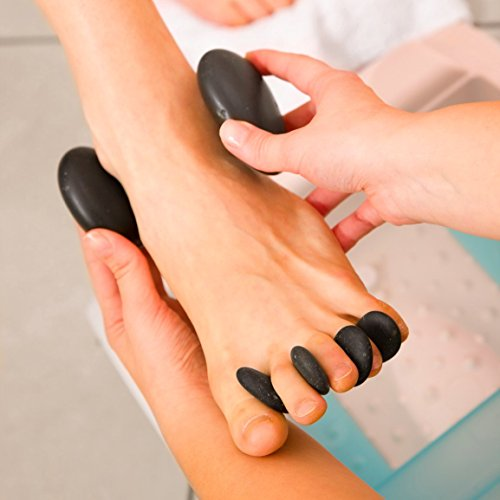 Purovi Spa Hot Stone Massage Set – 20 Natursteine im Samtbeutel - 4