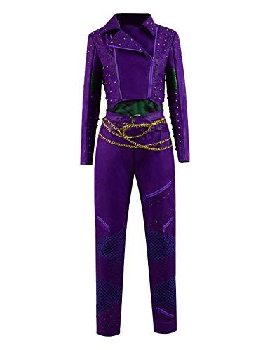 Halloween Audrey Cosplay Kostüme Mal Halloween Full Set Outfits für Frauen (XS, Lila)