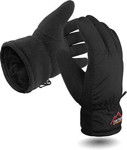 Damen Winter Handschuhe Extrem Warm und Flauschig TOG-9.8 bis -10°C Farbe Schwarz Größe M/L