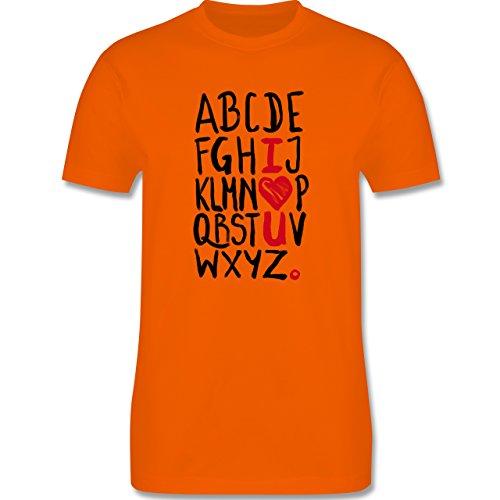 Romantisch - I <3 U - ABC - Herren Premium T-Shirt Orange
