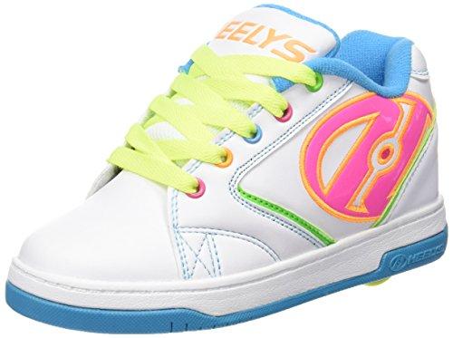 Heelys Propel 2.0 770514, Mädchen Lauflernschuhe Sneakers, multi (White/Neon Multi), 36.5 EU (4 UK)