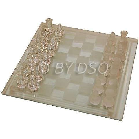 Gizmo Juegos 2en 1Set de juegos en ajedrez y damas de cristal 25cm x 25cm BML81100
