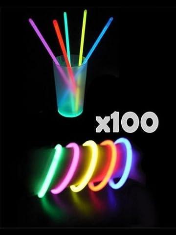 100 Bracelets FLUO Lumineux -