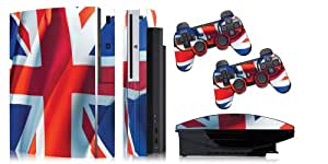 Designer skins for FAT Playstation 3 System Console, PS3 Controller skin included - UNION JACK