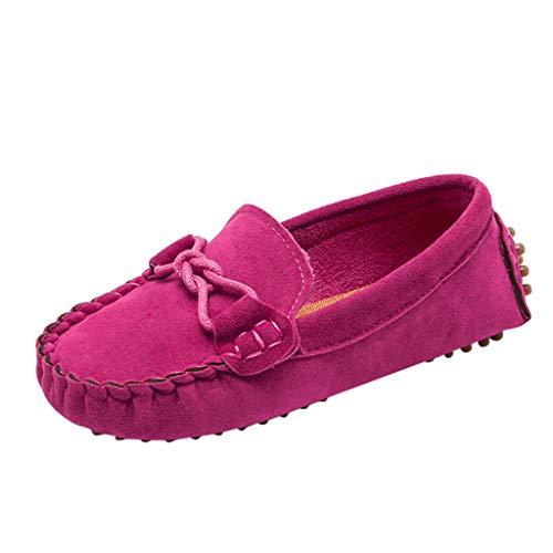 LILIGOD Kinder Jungen Mädchen Freizeitschuhe Volltonfarbe Weiche Müßiggänger Bequem Atmungsaktive Junge Anzugschuhe Party Schuhe Mode Retro Runder Kopf Einzelne Schuhe -