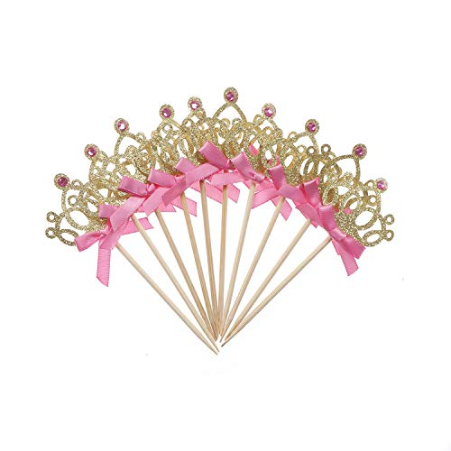 Cupcake-Dekoration für Kinder, für Jungen, Mädchen, gold/silberfarben, 10 Stück As Pic (Dekorationen Turtle Cupcake Ninja)