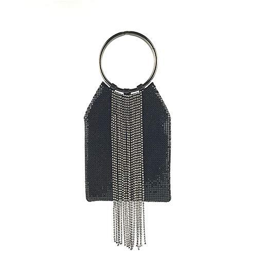 FashionCraze Europa Und Die Vereinigten Staaten Aluminium Stück Strass Ring Damen Abendtasche Frauen Kupplungen Handtasche Abendgesellschaft Tasche Prom Tasche B -