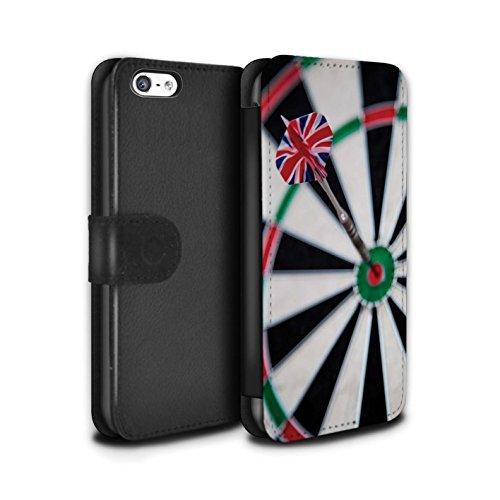 Stuff4 Coque/Etui/Housse Cuir PU Case/Cover pour Apple iPhone 5C / Tops/Double 20 Design / Fléchettes Photo Collection Vol de Fléchette