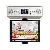 auna TESTURTEIL: SEHR GUT Connect Soundchef • Unterbau-Radio • Küchenradio • Unterbau-Digitalradio • DAB+ und UKW • WLAN • 2 x 3-Boxen • mit Tablethalterung • Fernbedienung • buche