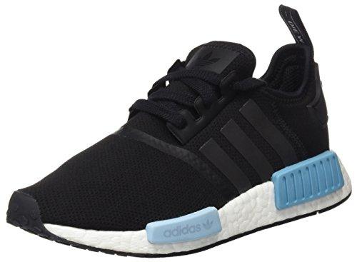 adidas Damen Nmd_r1 Sneaker, Schwarz (Core Black/Core Black/Ice Blue), 40 EU