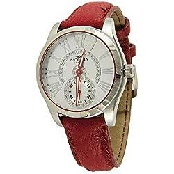 Mondia Italia MI746–2CP, relojes de pulsera de mujer, pequeño, Segundo correa de auténtica piel de avestruz.