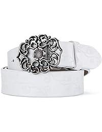 Wagyunfei Cinturones Suaves para Mujeres Cinturón de Hebilla Simple Tallado  para Mujeres Cinturón de Cuero Hueco Pequeño cinturón… 6b0c86d73abd