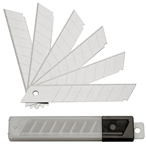 Lot de 100 SBS Lames sécables pour cutter 18 mm ; Lames de cutter, cutter lames couteau