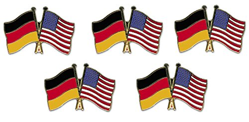 5er Pack Deutschland - USA Freundschaftspin Yantec Pin Flagge
