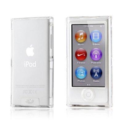 Coque transparente crystalisée avant et arrière pour iPod nano 7ème génération,iPod 7G+1film et