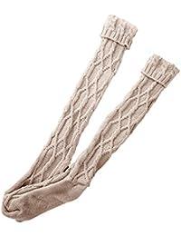 Calcetines térmicos Mujer Invierno �� Chicas Damas Mujeres Calcetines Muslo Alto Sobre la Rodilla Calcetines Medias de algodón largas Calientes de Yesmile