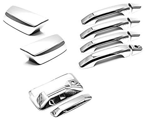 Sizver Chrome Combo Set Covers For Chevy Silverado 1500 *Not Fit Towing Mirrors* by Sizver