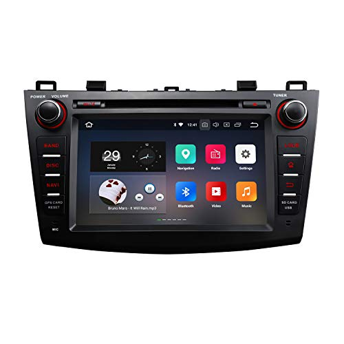 eonon Android 8 fit Mazda 3 2010 2011 2012 2013 Indash Car Digital Audio Video Stereo Autoradio 8 zoll LCD Touchscreen CD DVD GPS Sat Nav Bluetooth FM AM RDS USB SD Headunit GA9163A