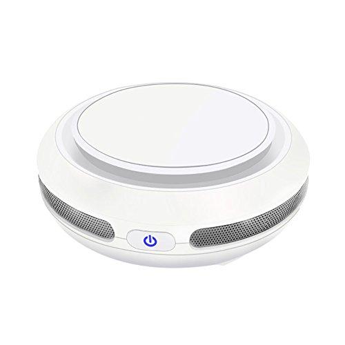 FJW Auto Luftreiniger Portable Ozon Lufterfrischer Anfangsfilter Aktivkohlefilter HEPA 4 Schichten Filtration Entfernen Sie Formaldehyd Und Schädliche Gase,White (Luftreiniger Kleiner Plug-in)