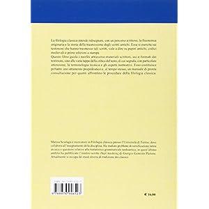 Introduzione allo studio della filologia classica