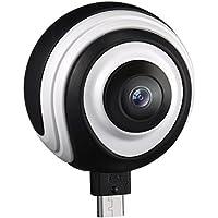 Cámara Panorámica de 360 Grados VR con Lente Gran Angular,VicTsing Cámara de Imagen y Video en Tiempo Real para Teléfono Android 5.0 o Superior con Conectores Micro USB o Tipo C (Soporte OTG)