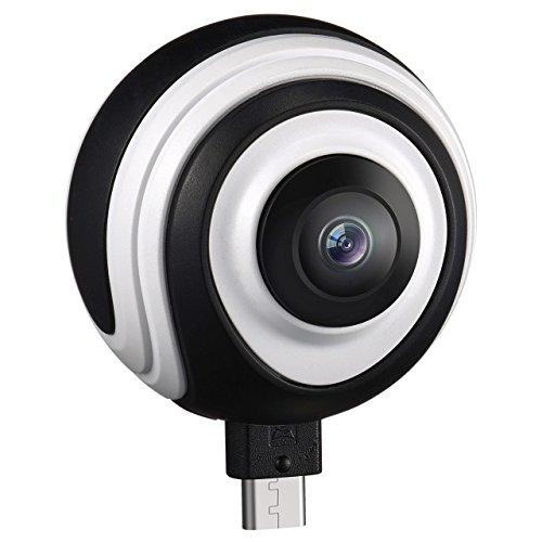 Foto de Cámara Panorámica de 360 Grados VR con Lente Gran Angular,VicTsing Cámara de Imagen y Video en Tiempo Real para Teléfono Android 5.0 o Superior con Conectores Micro USB o Tipo C (Soporte OTG)