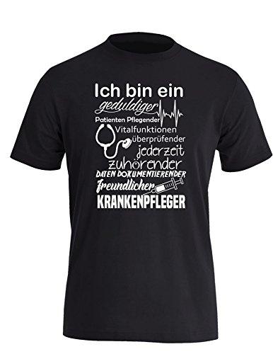 Ich bin ein geduldiger, Patienten Pflegender, Vitalfunktion überprüfender... freundlicher Krankenpfleger - Perfektes Geschenk für Pfleger - Herren Rundhals T-Shirt