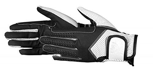 PFIFF Damen Reithandschuhe zweifarbig Handschuhe, schwarz/Weiß, L