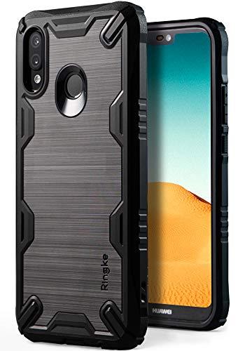 Ringke Onyx-X für Huawei P20 Lite Hülle [Schwarz Black] Griffig Rugged Flexibel Silikon TPU Schutzhülle mit Militärischer Ebene Fallschutz - Große Metall-griff-stütze