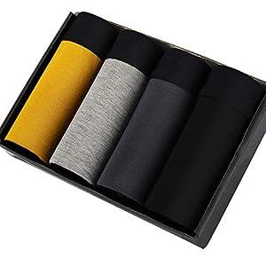 SWISSWELL 4er Pack Herren Unterhosen Micro Modal Seidenweich Boxershorts Men's Underwear Männer Hipster Modal Unterwäsche