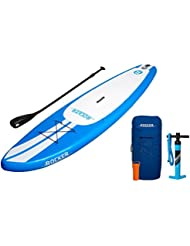 Tabla inflable de paddle surf iRocker, 305x76x15cm Conjunto SUP (Azul)