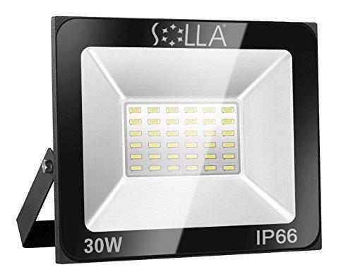 SOLLA Faretto a LED da 30W, IP66 Resistente all'acqua LED esterno, Luce Bianca 6000K, 2400LM, 24 mesi di garanzia