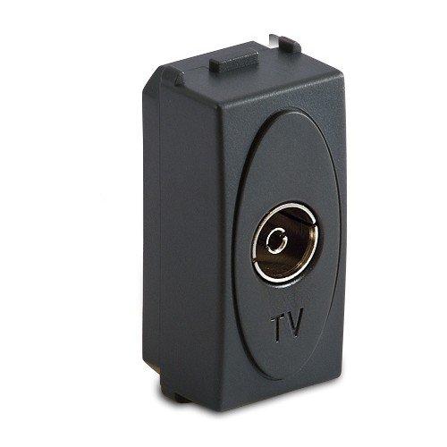 Pass-master (Weise Stecker TV 9,5mm Pass.Endgültige/grau (Master Cod. 31255))