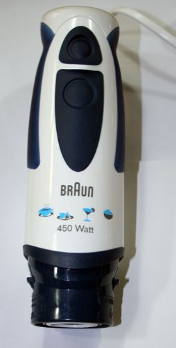 Corpo Motore per BRAUN Multiquick e Minipimer Bianco e Blu Scuro