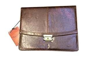 Porte-documents en polyuréthane Matériel avec Double Gussetted & Verrouillable type de clé 7091 Bicolore Couleur