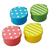 dot stripe mini sauce containers for Bento Box Lunch Box