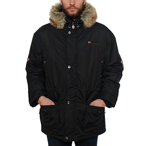 geographical-norway-atlas-1-men-eskimo-giacca-parka-nero-per-uomo