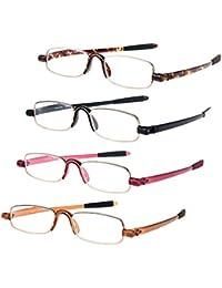 Value 3 Pack Metal Frame Occhiali da lettura Occhiali da lettura Cerniere a molla Leggeri lettori telaio Ovale Occhiali da lettura Antiriflesso Stile moderno elegante Visione chiara,3.0