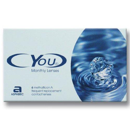 Cyou Monthly Lenses Monatslinsen weich, 6 Stück / BC 8.7 mm / DIA 14.5 / -2,75 Dioptrien