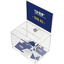 HMF - Urna para votaciones (orificio tamao DIN A5, 160 x 215 x 160 mm)