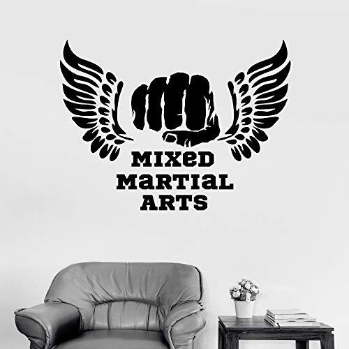 jiuyaomai Moderne Sportraum Vinyl Wandtattoo Mixed Martial Arts MMA Zitate Kampf Kämpfer Aufkleber Wohnzimmer Wohnkultur Tapeten Pink 52x42 cm -