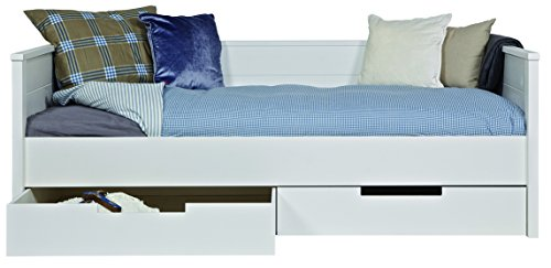 Promo Alfred & Compagnie - Chambre enfant essentielle bois massif blanc Kaja sofa