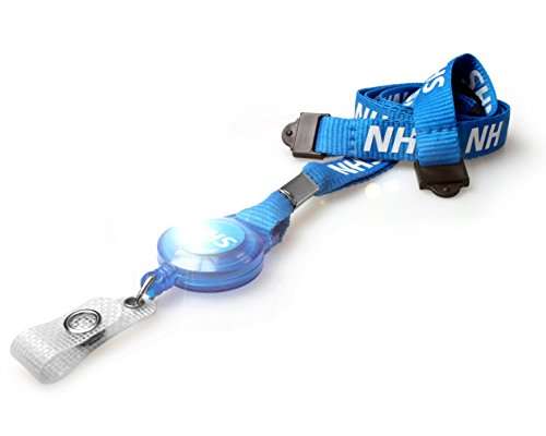 Deals For ID Card It NHS Lanyard Neck Strap with Integrated Badge Reel (100) on Line