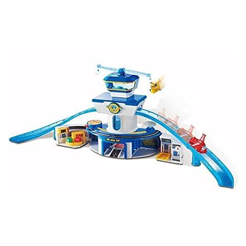 Super Wings – Grand Aéroport avec Jett et Donnie – Playset + 2 Figurines Transform-a-Bots