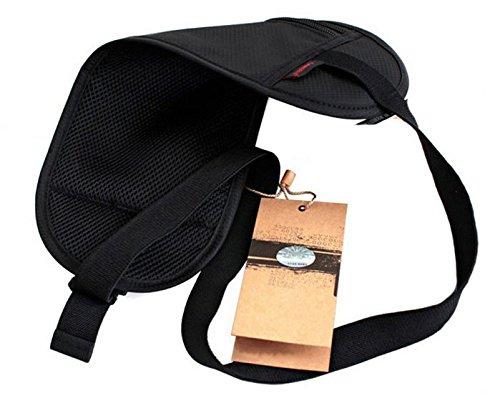 yacn Security Geldbörse Travel Wallet verborgen Reisetasche Taille Geld Gürtel Körper Leicht, Oxford, 3Reißverschluss Taschen blau grau