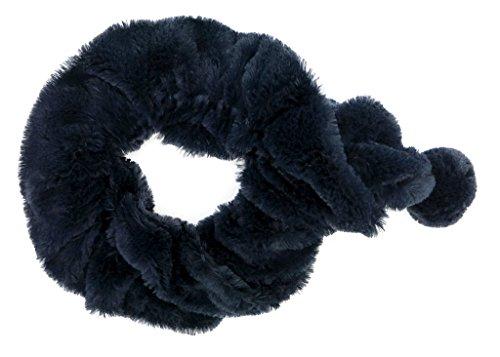 fake fur schal accessu® Damen Tie Krawatten Schal mit Pompom Fake Fur super weich und flauschiges Kunstfell Herbst/Winter