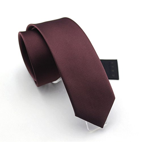 fan-tastik-mens-eco-friendly-fashion-solid-color-slim-tie-24-6cm-chocolate