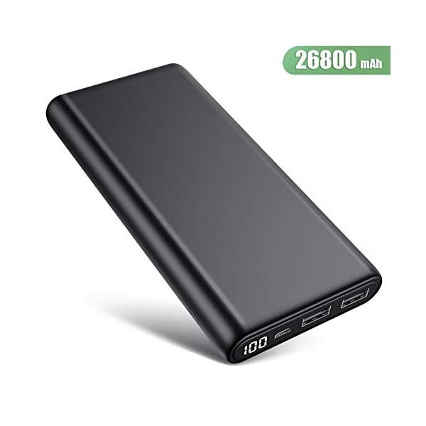 Trswyop Power Bank 26800mAh, 【Versione Migliorata】 Caricabatterie Portatile con LED Digitale Display Batteria Esterna… 1 spesavip