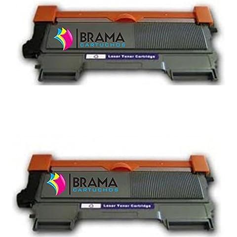 Bramacartuchos - 2 x Tóner compatible con Brother Tn-2010 NON OEM ALTA CAPACIDAD (2600 copias) Tn2010, HL2130, HL 2310, HL2310, DCP7055, DCP 7055
