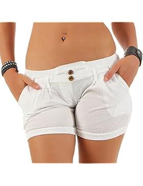 malito Pantaloncini in Universal-Colore in elastic Cintura dei Pantaloni 6089 Donna